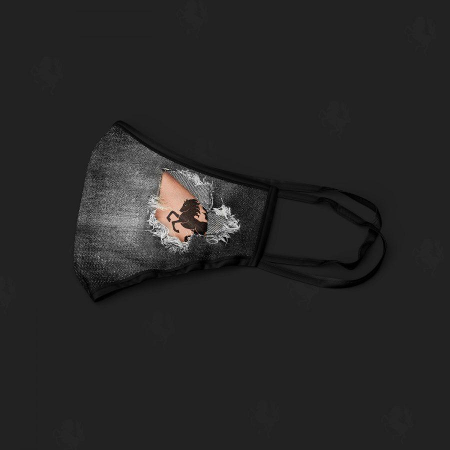 mondmasker-spijkerstof-twentse ros-tattoo-zijkant