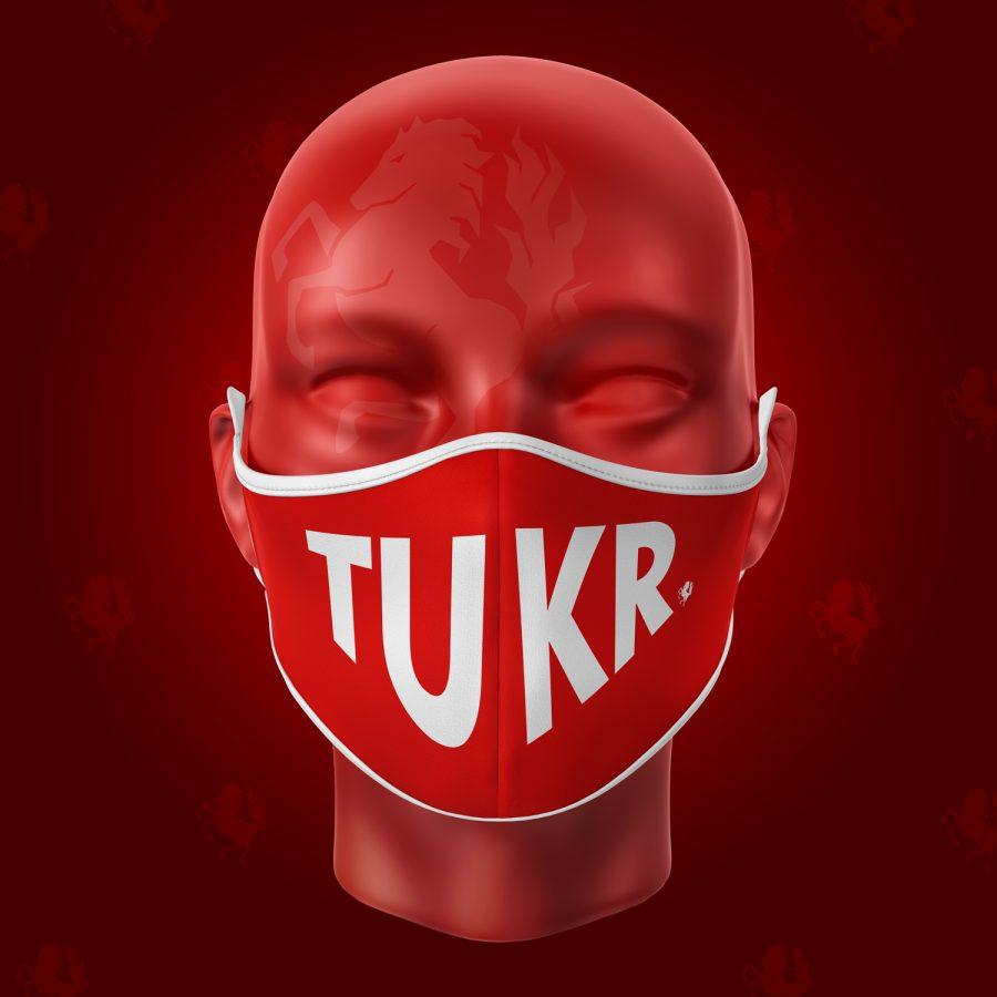 Mondmasker TUKR rood voorkant